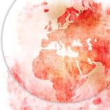 Europe map-vintage artwork Stock Images