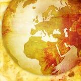 Europe map-vintage artwork Stock Photography