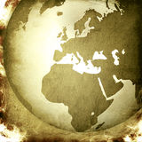 Europe map-vintage artwork Royalty Free Stock Photo