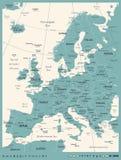 Europe Map - Vintage Vector Illustration. Europe Map - Vintage Detailed Vector Illustration Stock Images
