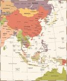 Europe Map - Vintage Vector Illustration. Europe Map - Vintage Detailed Vector Illustration royalty free illustration