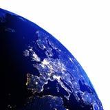 Europe map white isolated Royalty Free Stock Image