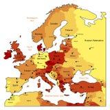 europe mapy pomarańcze Fotografia Stock
