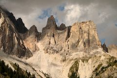Landscape with a mountain, Italy Royalty Free Stock Image