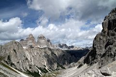 Landscape with a mountain, Italy Royalty Free Stock Photography