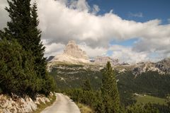 Landscape with a mountain, Italy Stock Image