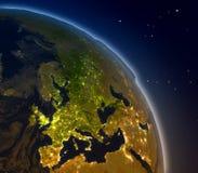 Europe at night Stock Photo