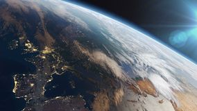 Europe at night stock footage