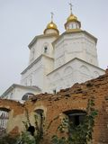 Europe. Nord-east region of Ukraine. Putivl town. Molchanovski women`s monastery. Autumn 2012 royalty free stock photography