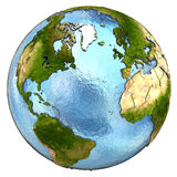 Europe and north America on Earth Royalty Free Stock Images