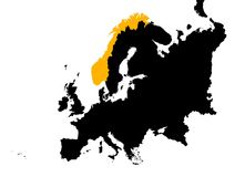Europe with Norway map Stock Photography