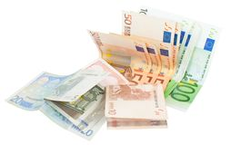 Europe notes Royalty Free Stock Photo