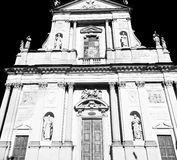 Europe  old christian ancient  in italy milan religion       an Royalty Free Stock Images