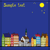 Europe old houses pattern  Royalty Free Stock Photography