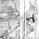 europe old in  italy  antique close brown door and rusty lock  c Royalty Free Stock Photography