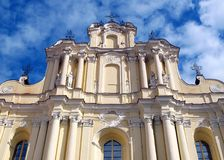 Europe old university of Vilnius. Church Stock Image