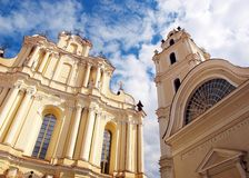Europe old university of Vilnius. Church and observatory Royalty Free Stock Image