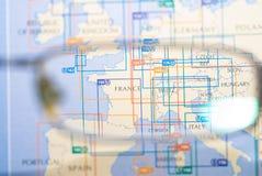 europe ostrości mapa selekcyjna Obrazy Royalty Free