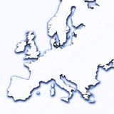 Europe outline. With drop shadow Stock Photography