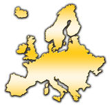 Europe outline map royalty free stock photography