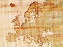 Europe on papyrus Stock Images