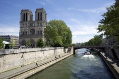 Europe, Paris, cruise on the Seine on the Bateaux Mouches Stock Images