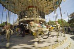 Europe, Paris, a rotating carousel Stock Photos