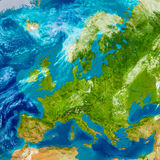 Europe on physical map Stock Photo