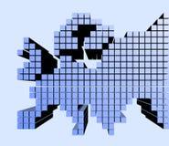 Europe pixel Stock Photo
