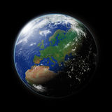 Europe on planet Earth Royalty Free Stock Images