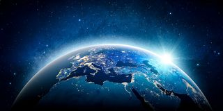 Europe planet Earth. Elements of this image furnished by NASA Royalty Free Stock Image