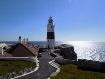 Europe point- lighthouse- Gibraltar stock images
