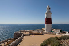 Europe Point. Lighthouse - The Lighthouse. Stock Photos