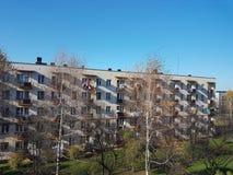 Europe. Poland country. Jaslo city. Modernized apartment house.  Royalty Free Stock Images