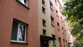 Europe. Poland country. Jaslo city. Modernized apartment house.  Royalty Free Stock Image
