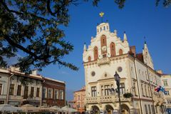Europe, Poland, Rzeszow, Old Town, Market Square, City Hall Stock Photography