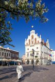 Europe, Poland, Rzeszow, Old Town, Market Square, City Hall Stock Image