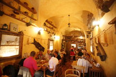 EUROPE POLAND WARSAW. A  Restaurant the old City of Warsaw in Poland, East Europe Stock Photo