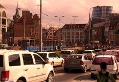 EUROPE POLAND WROCLAW. Der Verkehr in der Innenstadt von Wroclaw oder Breslau im westen von Polen stock photo