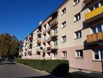 Europe. Poland. Yaslo. Modernized apartment house. Europe. Poland country. Yaslo city. Modernized apartment house Stock Image