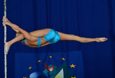 EUROPE POLE DANCE CHAMPIONSHIP Royalty Free Stock Image