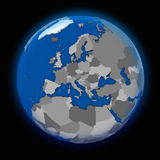 Europe on political Earth Royalty Free Stock Images