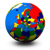 Europe on political globe illustration Royalty Free Stock Image