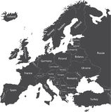 Europe political map Stock Images