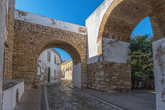 Europe, Portugal, Algarve, city of FARO - Traditional street Royalty Free Stock Image