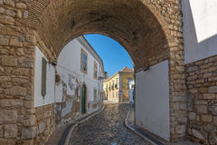 Europe, Portugal, Algarve, city of FARO - Traditional street Stock Images