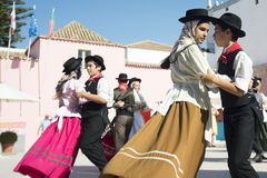 EUROPE PORTUGAL ALGARVE LOULE TRADITIONAL DANCE Royalty Free Stock Photo