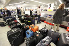 EUROPE PORTUGAL LISBON AIRPORT BAGGAGE Stock Photography