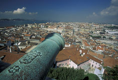 EUROPE PORTUGAL LISBON BAIXA CASTELO Royalty Free Stock Photography