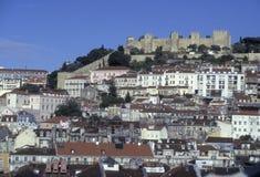 EUROPE PORTUGAL LISBON BAIXA CASTELO. The castelo sao Gorge in the city centre of Baixa in the city centre of Lisbon in Portugal in Europe Stock Image